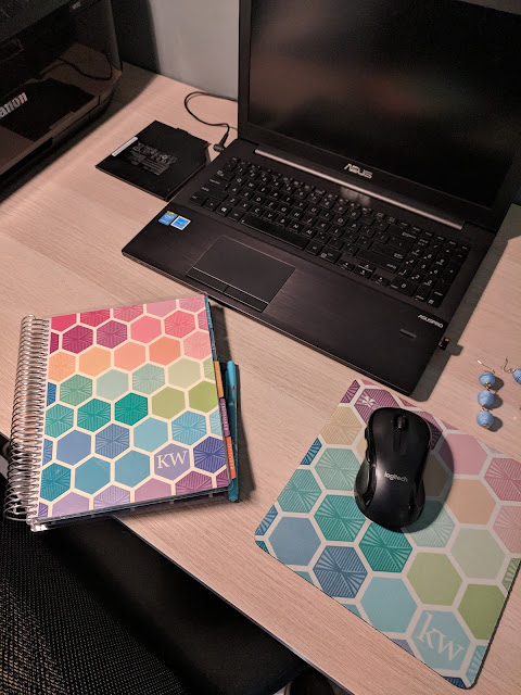 Recent Favorites - Erin Condren Life Planner and Mouse Pad // www.pugsandpearls.com