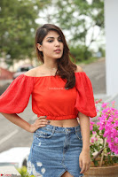 Rhea Chakraborty in Red Crop Top and Denim Shorts Spicy Pics ~  Exclusive 064.JPG