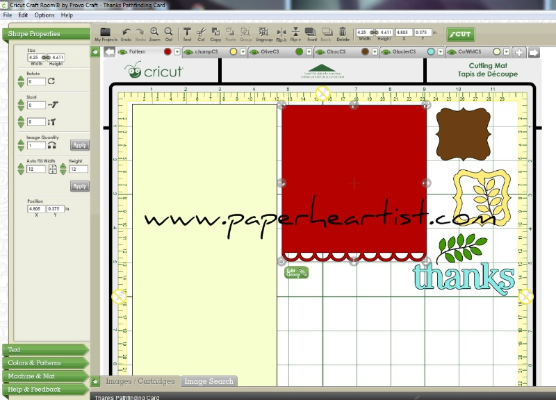 Free Cricut Craft Room: Paper HeARTIST: Cricut Project Of The Week & Free Cutting File
