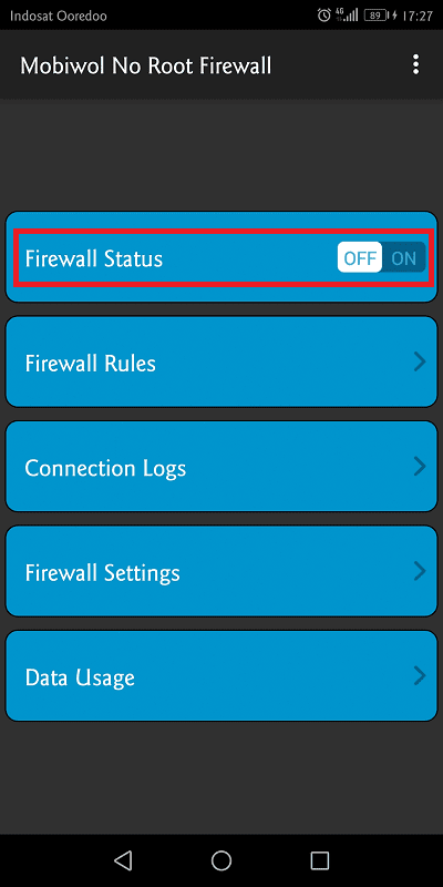 mobiwol berfungsi untuk memblokir koneksi pada suatu aplikasi
