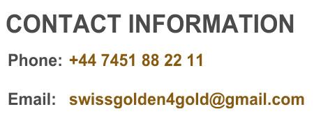 Swissgolden Programs 4Gold Team Contact Information
