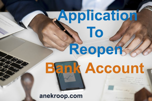 how to reopen bank account