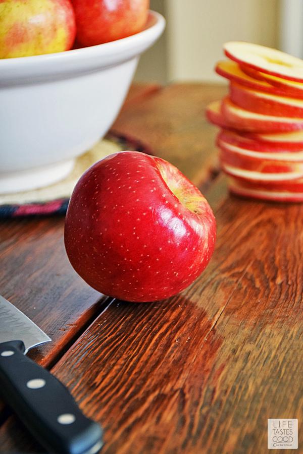 Slicing SweeTango Apples