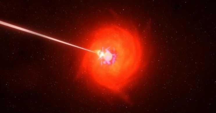 Bu kızılötesi akım, 800 ışık yılı uzaktaki bir nötron yıldızından gelmektedir.