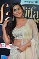 Prajna Actress in backless Cream Choli and transparent saree at IIFA Utsavam Awards 2017 0004.JPG