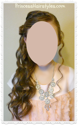 Pretty hairstyle for special events