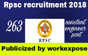 Rpsc recruitment notification 2018-2019 Assistant engineer of rajasthan