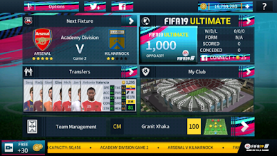 DLS 19 Mod Arsenal FIFA Offline Android - Apk Minds