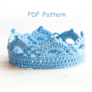 Blue Crochet Crown Pattern