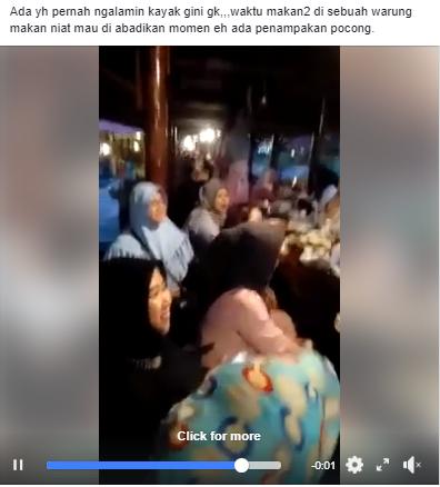 Heboh Video Penampakan Setan Diwarung Makan yang Diduga Penglarisan
