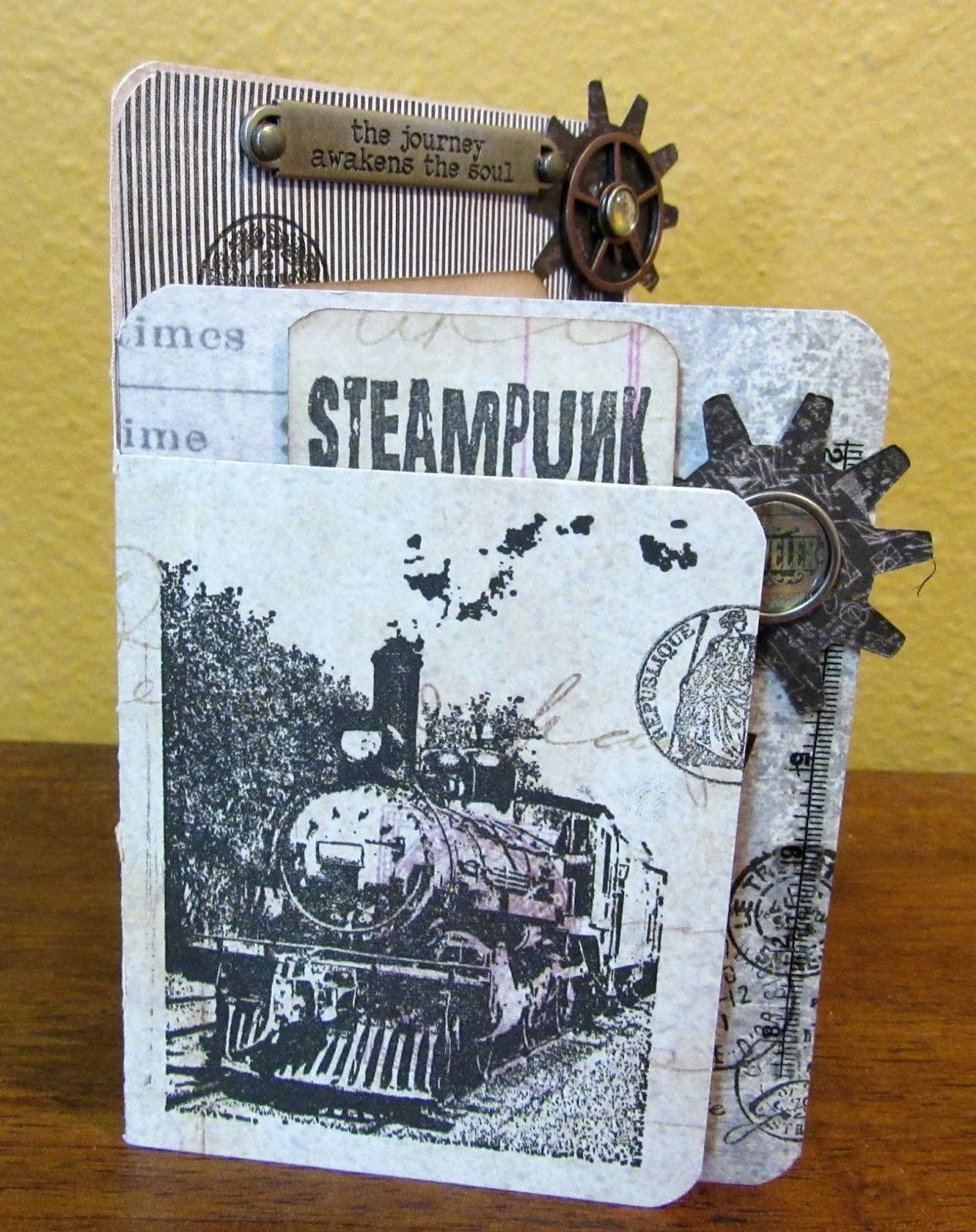 Steampunk And Passport Cards