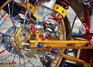 jari jari modifikasi rem rantai modifikasi roda motor
