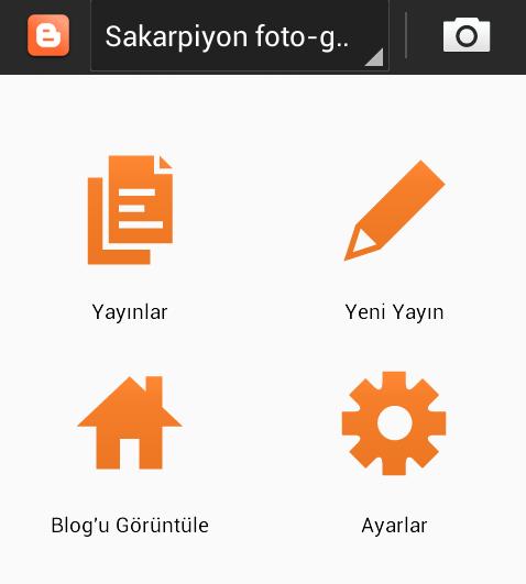 Mobil Blogger, Android kullanan cep telefonu ve tabletler için.