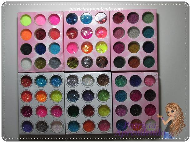 Glitters para nail art
