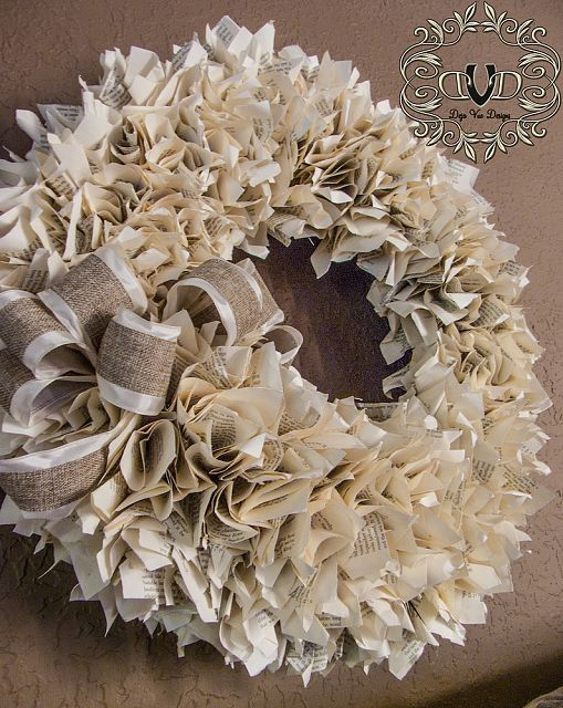 Well Read book page Wreath