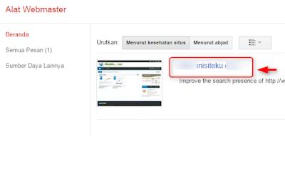 cara sitemap blog di google