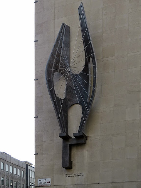 Winged Figure by Barbara Hepworth, John Lewis department store, Holles Street at Oxford Street, London