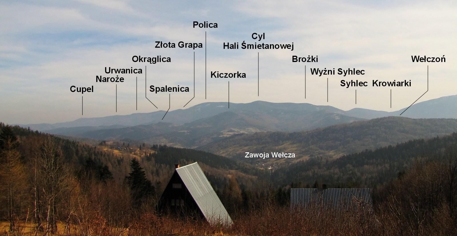 Panorama Pasma Policy spod schroniska.