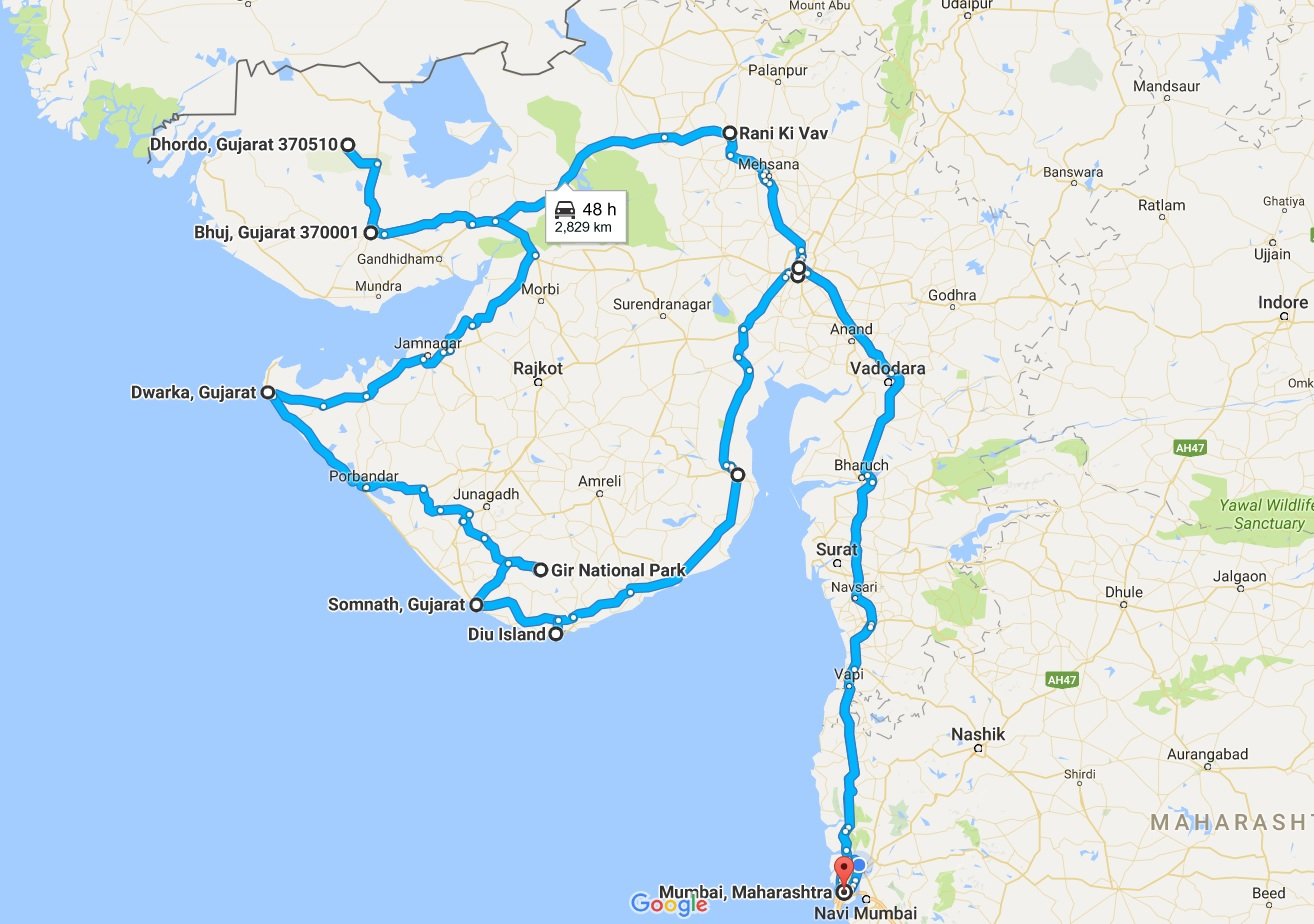The Journey Begins – Mumbai To Gujarat Bus Tour