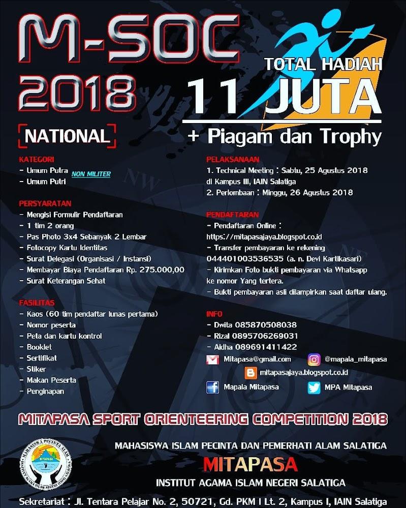 Mitapasa Sport Orienteering Competition / M-SOC • 2018