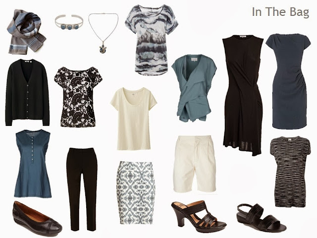 Travel capsule wardrobe for uncertain weather.
