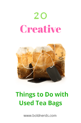 20 Creative Things to Do with Used Tea Bags