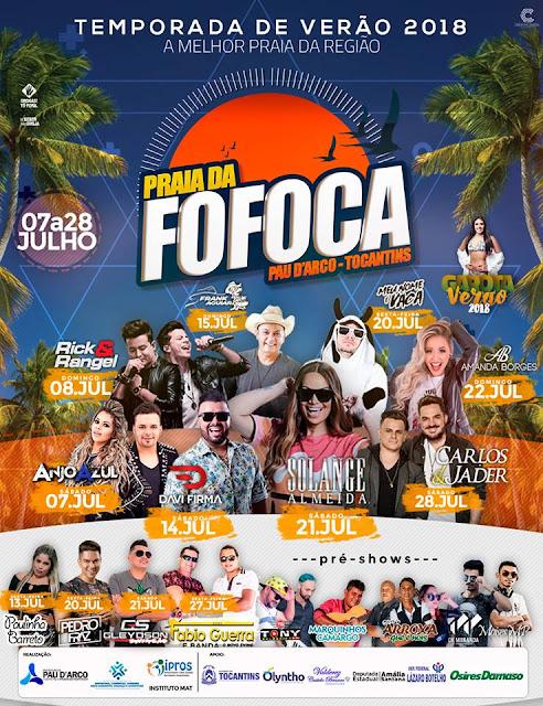 programação praia da fofoca 2018 em pau darco do tocantins