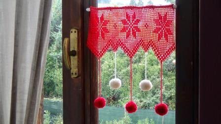 Uncinettofra decori natalizi per finestra all 39 uncinetto - Tende all uncinetto per finestre ...
