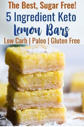 Sugar Free Keto Low Carb Lemon Bars