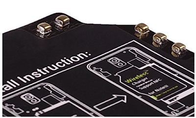 The Raised Contact Points on the Underside of the Wireless Charger Receiver Card for the Galaxy Note 3