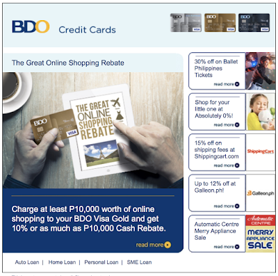 bdo great online shopping rebate promo