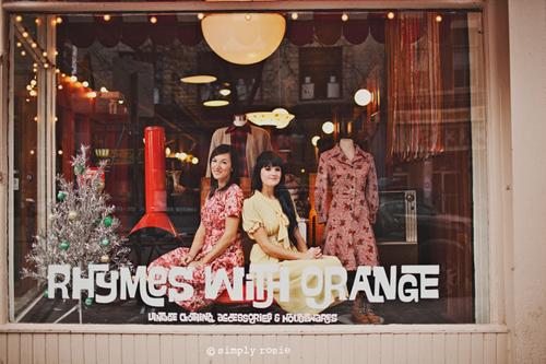oh so lovely vintage a tour of our vintage boutique rhymes with orange. Black Bedroom Furniture Sets. Home Design Ideas