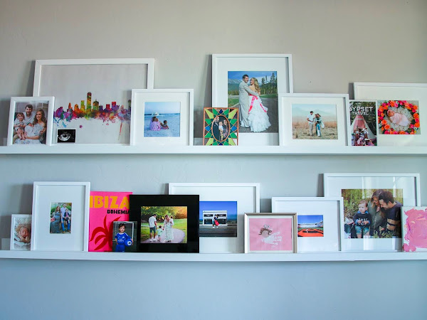 DIY Floating Photo Shelves