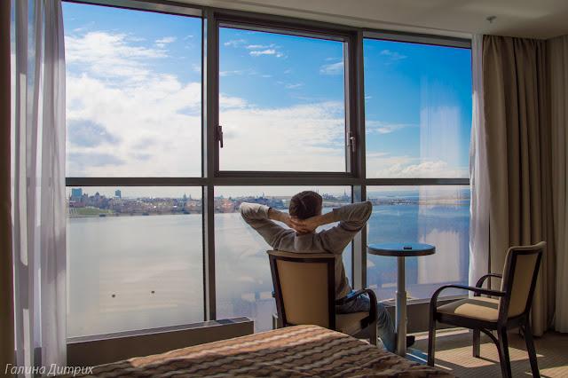 Вид с отеля Ривьера Казань