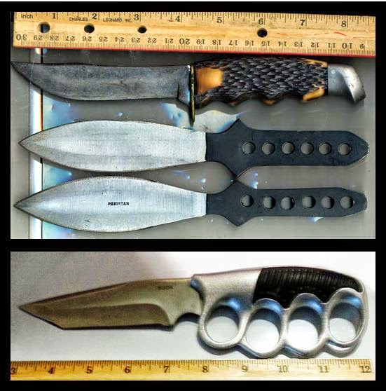 Knives (Top to Bottom) Discovered at (ABQ) & (LGA)