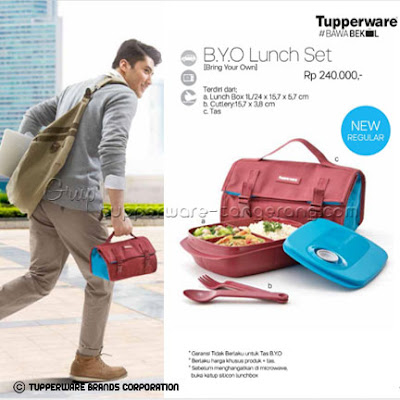 Bring Your Own (BYO) Lunch set ~ Katalog Tupperware Promo Mei 2016