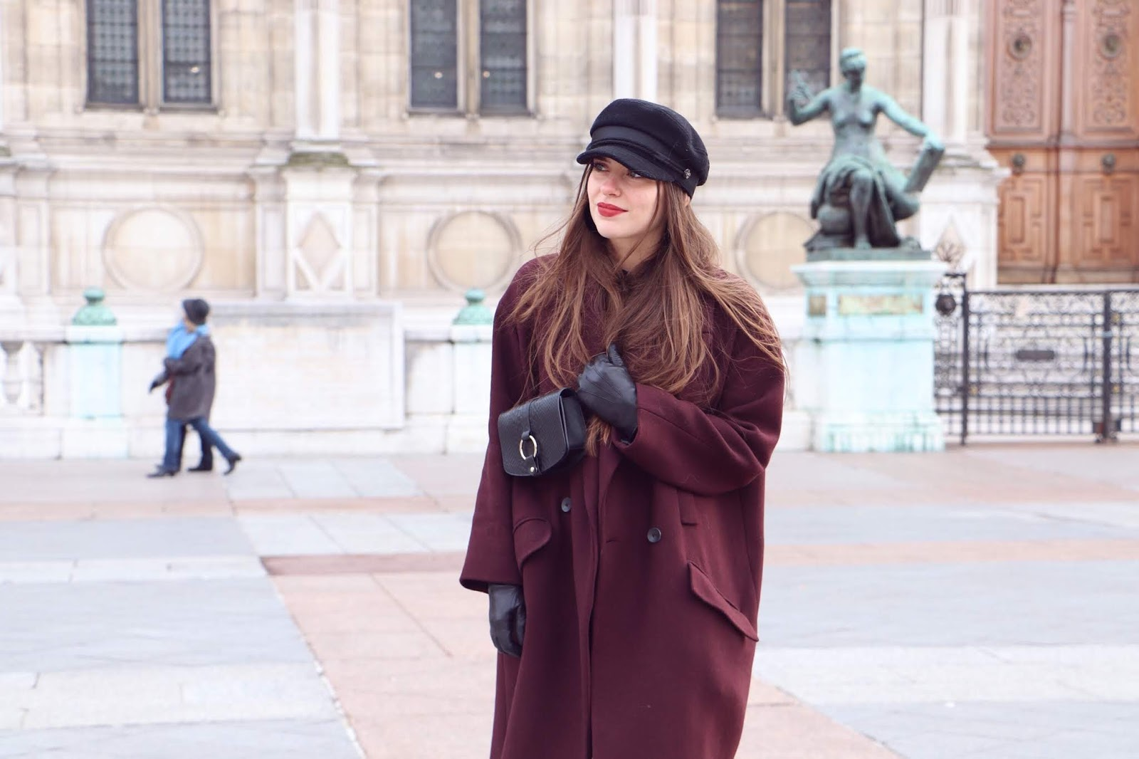 manteau oversize bordeaux 2