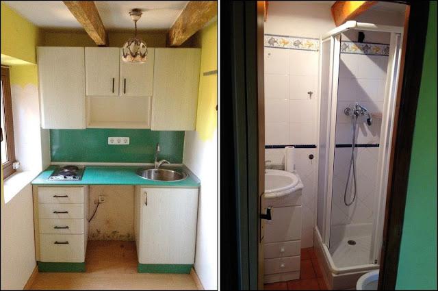 cocina y baño viejos