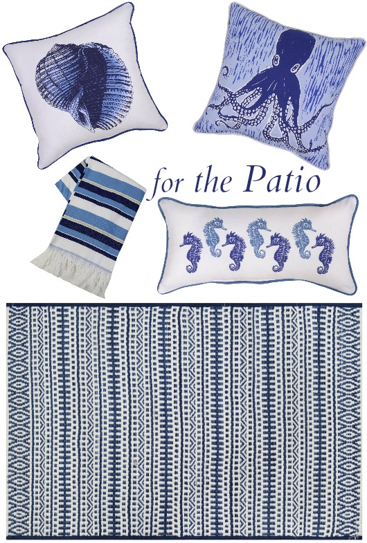 Blue Coastal Outdoor Patio and Porch Decor from Target