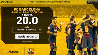 betfair supercuota Barcelona gana a Real Sociedad 20 mayo