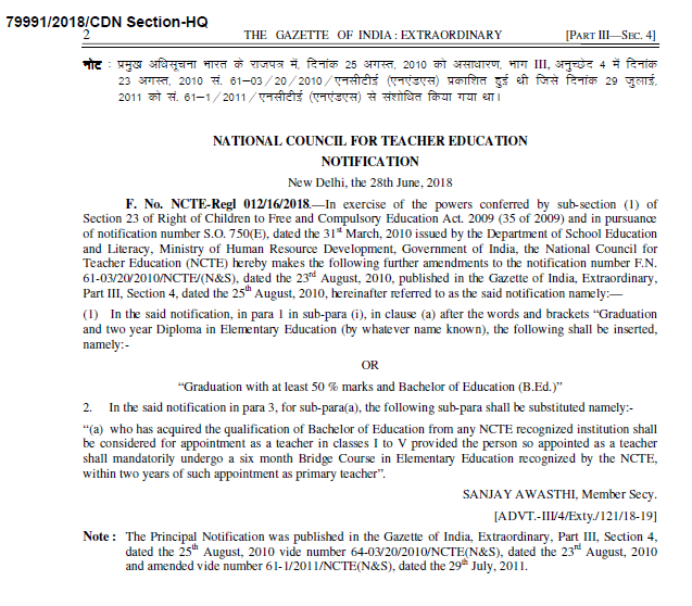 Eligible for B.Ed candidates to S.G.T Posts – Gazette Notification No.246