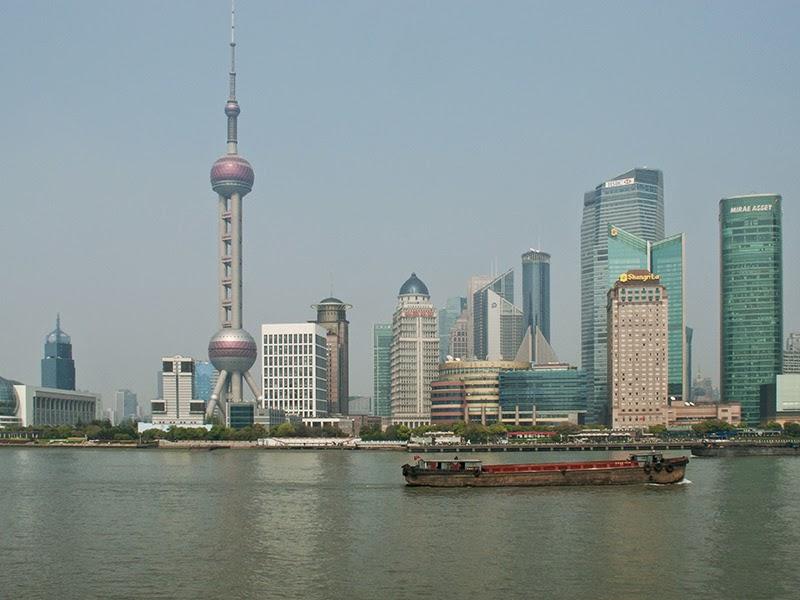 Le quartier Pudong à Shanghai (Chine)