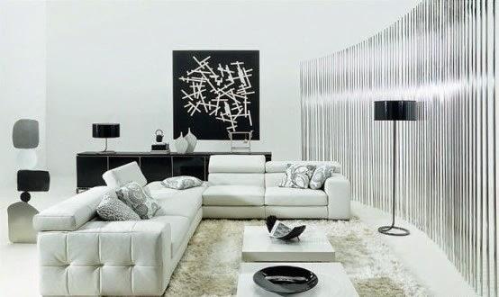 sala color negro y blanco