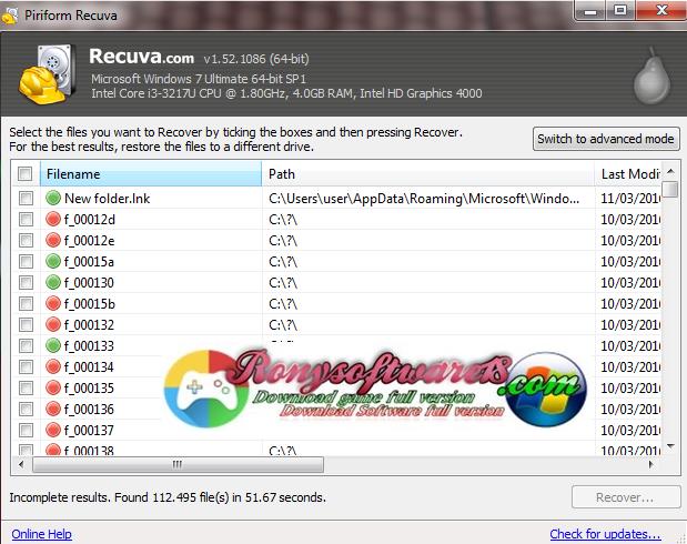 download gratis 4share: Download Recuva 1.46.919 Update ...