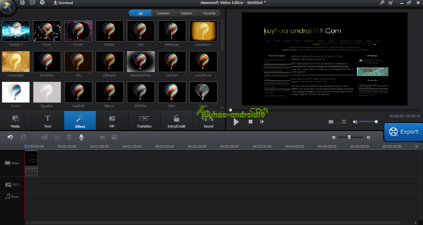 Aimersoft video editor kuyhaa