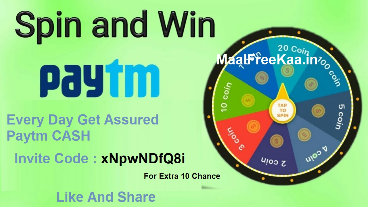 Spin And Win Free Paytm Cash