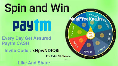 Spin and Win Unlimited Paytm