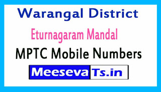 Eturnagaram Mandal MPTC Mobile Numbers List Warangal District in Telangana State