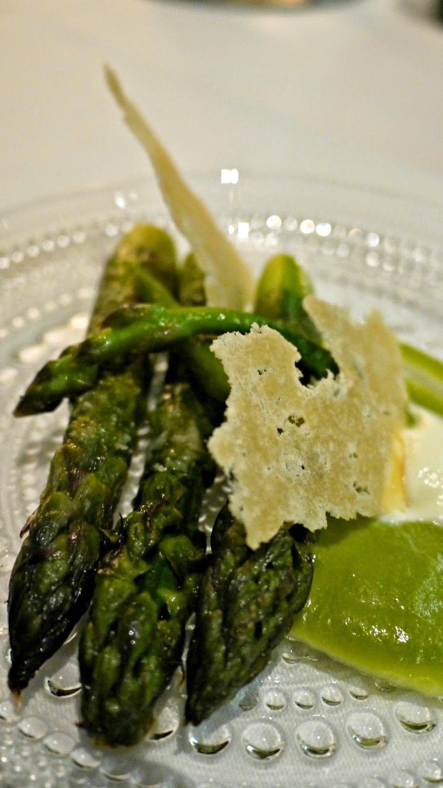Alain Ducasse Rivea London Asparagus and Parmesan