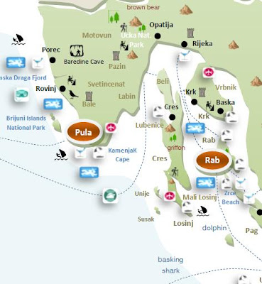 Interactive tourist travel map CROATIA